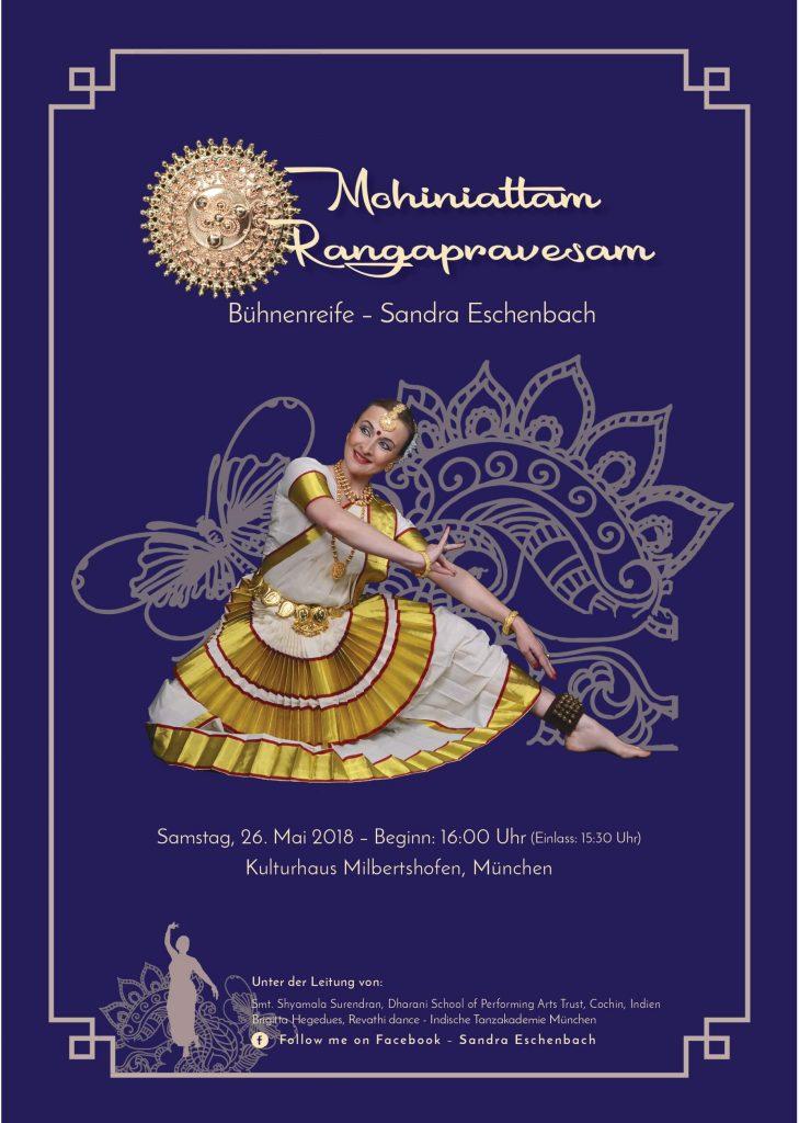 Auftritt Mohiniyattam Rangapravesam von Sandra Eschenbach